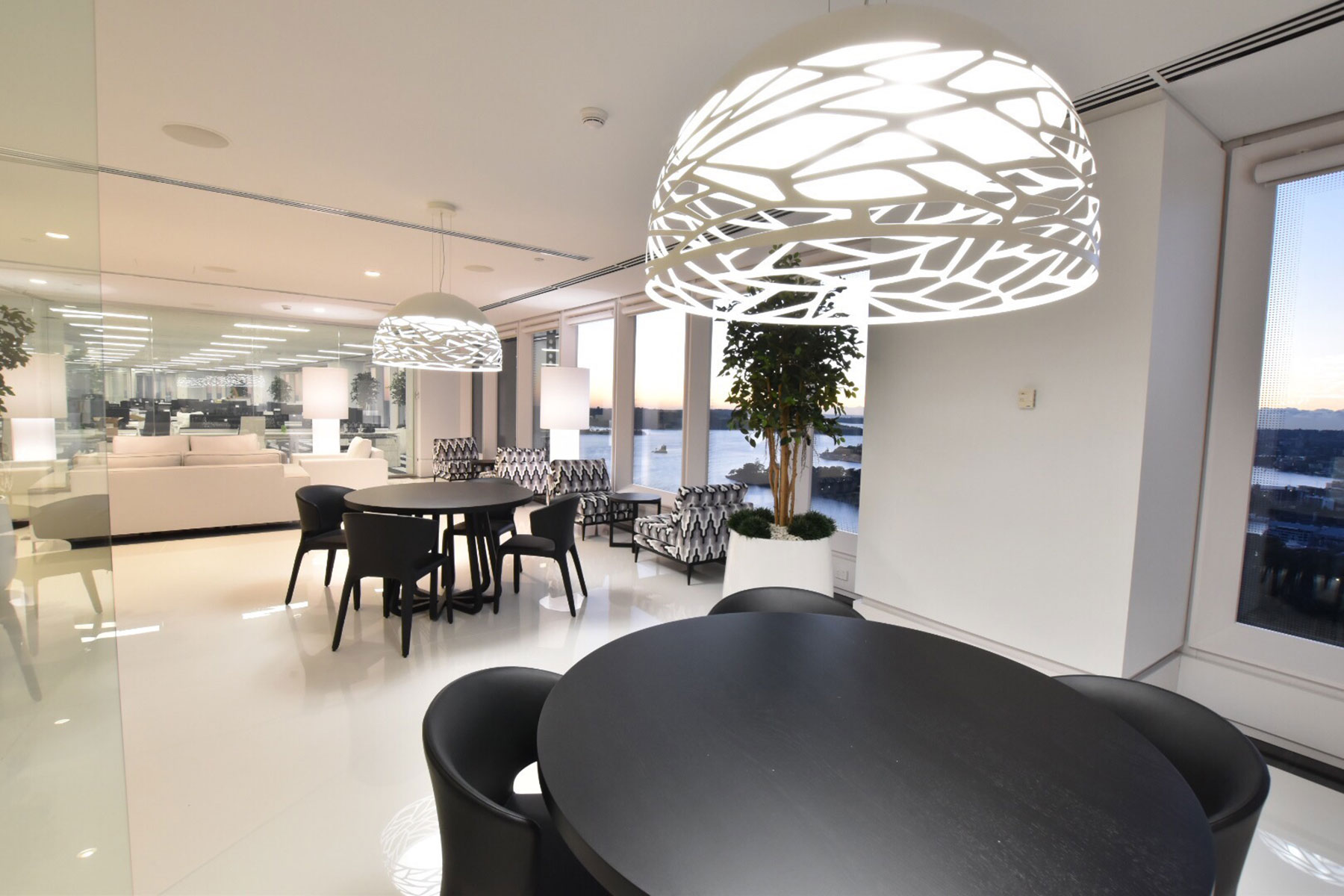 sydney commercial interior designer concierge lounge