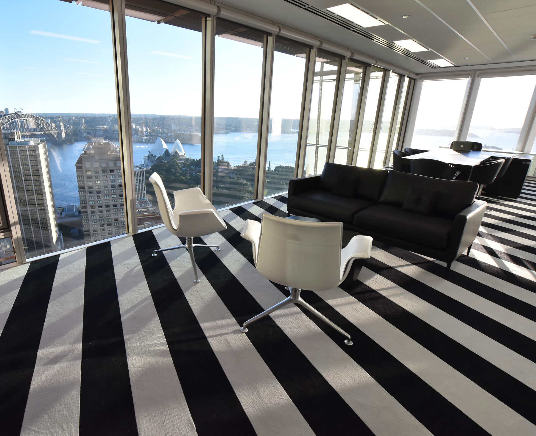 sydney commercial interior design office fit out godfrey hirst CEO office