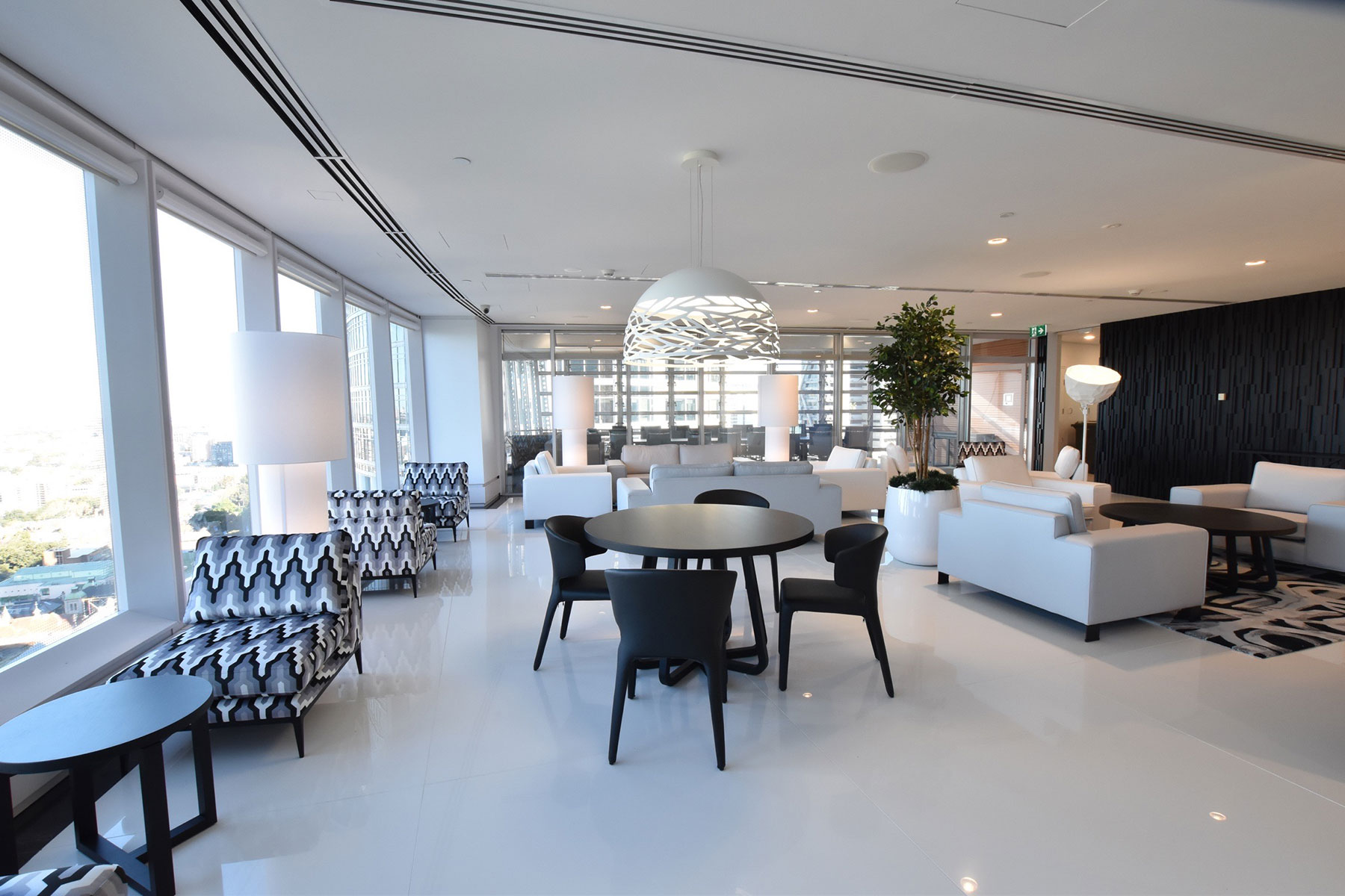sydney commercial interior design reception lounge
