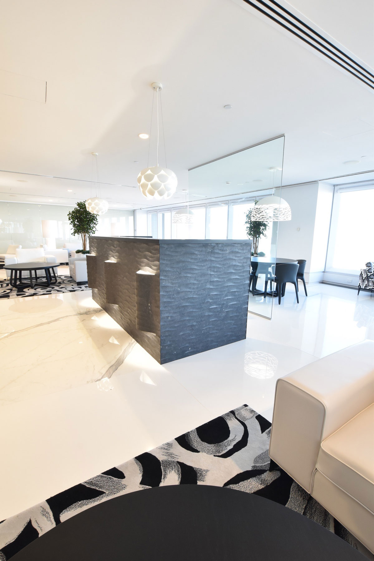 sydney commercial interior design concierge lounge