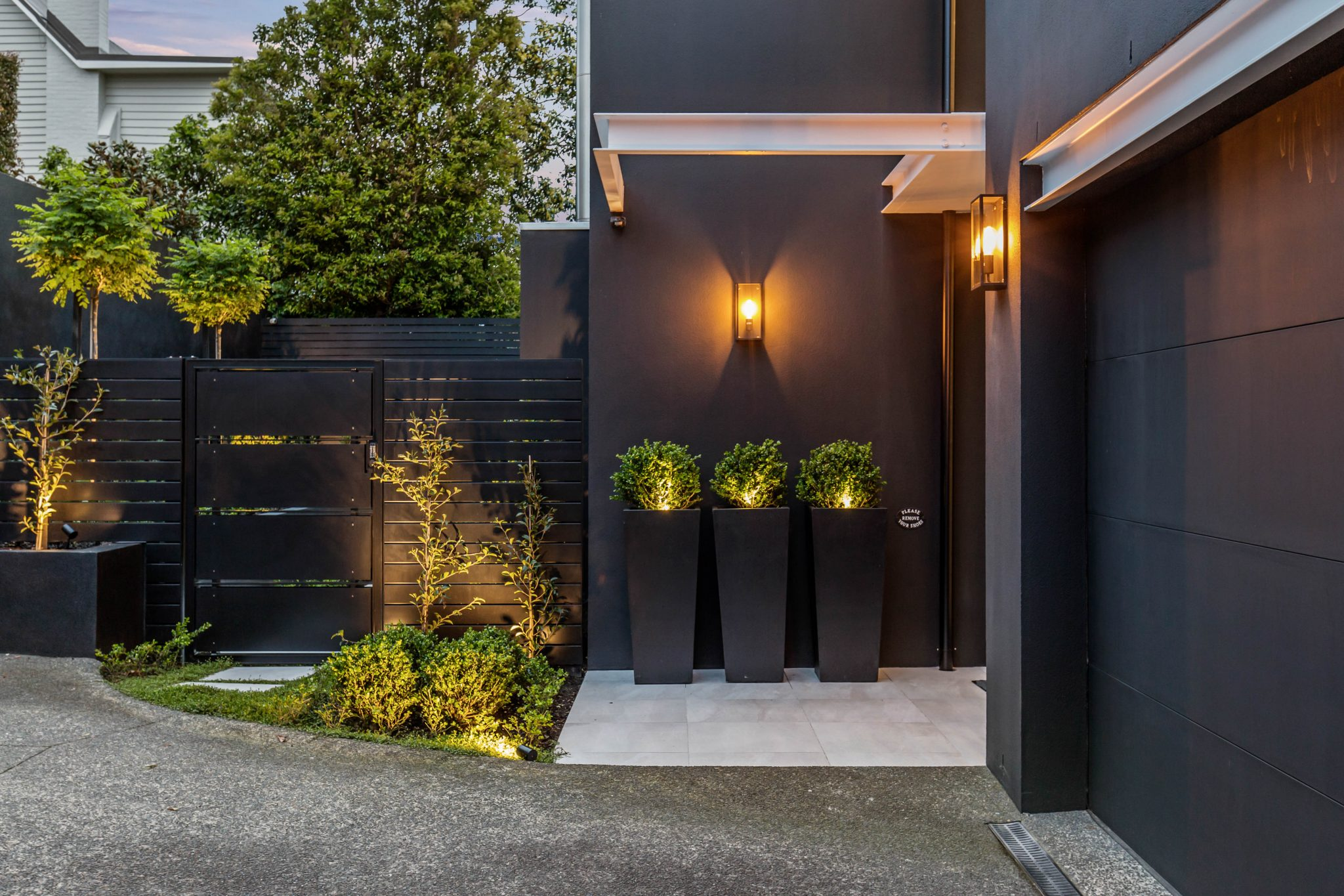 black exterior home design