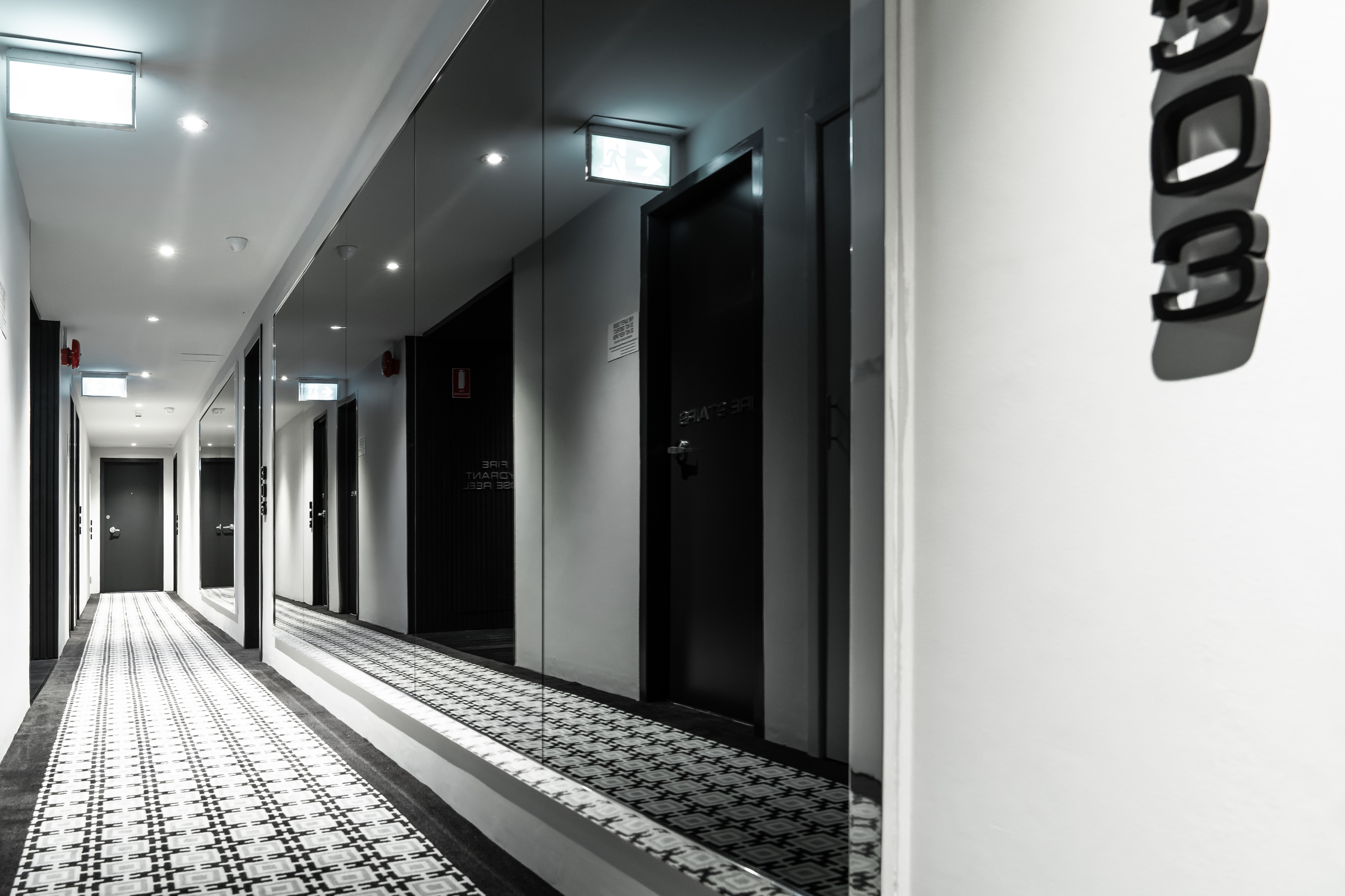 Sydney apartment building interior designer hallways common areas